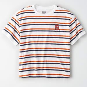Tailgate Women's Syracuse Orange Cropped T-Shirt White XS