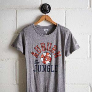 Tailgate Women's Auburn Tigers Basketball T-Shirt Gray Heather XS