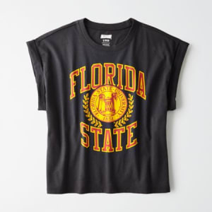 Tailgate Women's Florida State Rolled Sleeve T-Shirt Storm Dark M