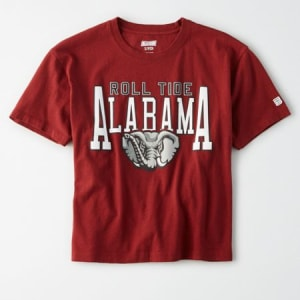 Tailgate Women's Alabama Crimson Tide Cropped T-Shirt Campus Red XS