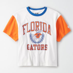 Tailgate Women's Florida Gators Cropped T-Shirt White S