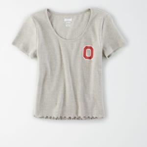 Tailgate Women's Ohio State Buckeyes Baby T-Shirt Gray Heather M