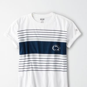 Tailgate Women's Penn State Rolled Sleeve T-Shirt White M