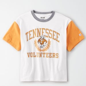 Tailgate Women's Tennessee Volunteers Cropped T-Shirt White XS
