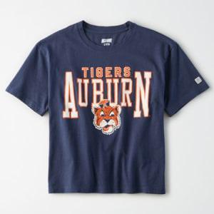 Tailgate Women's Auburn Tigers Cropped T-Shirt Blue S
