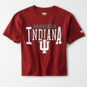 Tailgate Women's Indiana Hoosiers Cropped T-Shirt Campus Red L
