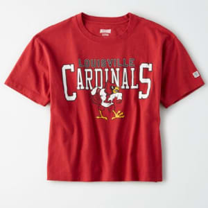 Tailgate Women's Louisville Cardinals Cropped T-Shirt Red M