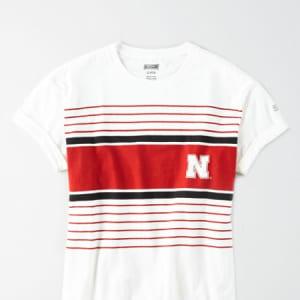 Tailgate Women's Nebraska Rolled Sleeve T-Shirt White XL