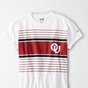 Tailgate Women's Oklahoma Sooners Rolled Sleeve T-Shirt White XS