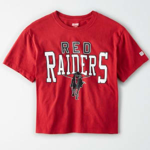 Tailgate Women's Texas Tech Red Raiders Cropped T-Shirt Red XS
