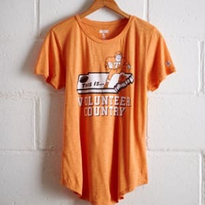 Tailgate Women's Tennessee Volunteer Country T-Shirt Orange XS
