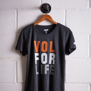 Tailgate Women's Tennessee Vol For Life T-Shirt Storm Dark S