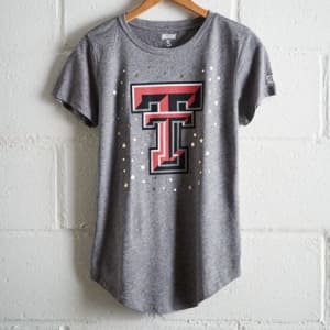 Tailgate Women's Texas Tech Foil Star T-Shirt Gray Heather XL