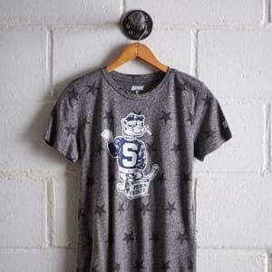 Tailgate Women's Penn State Star T-Shirt Salt And Pepper XL