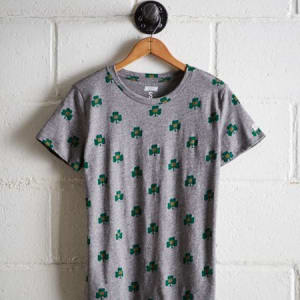 Tailgate Women's Notre Dame T-Shirt Gray Heather S