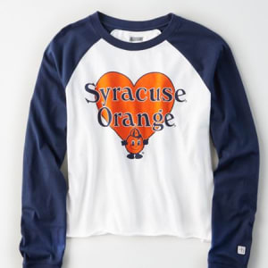 Tailgate Women's Syracuse Orange Baseball Shirt White XL