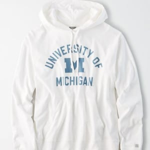 Tailgate Women's Michigan Wolverines Hoodie Tee White XS