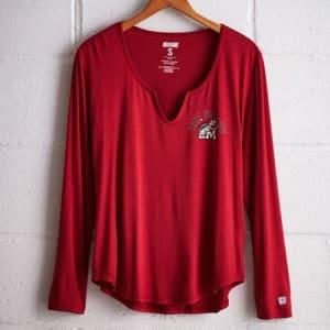 Tailgate Women's Maryland Split Neck T-Shirt Red XS