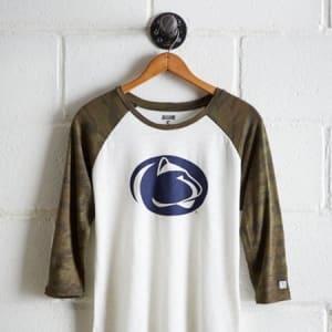 Tailgate Women's Penn State Baseball Shirt White XL