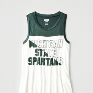 Tailgate Women's Michigan State Color Block Tank Green XS