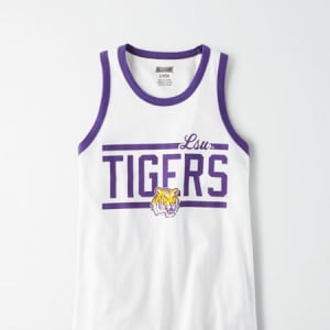 Tailgate Women's LSU Tigers Ringer Tank Top White M
