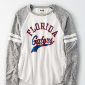 Tailgate Women's Florida Gators Plush Raglan Shirt White XL