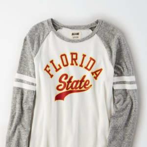 Tailgate Women's FSU Seminoles Plush Raglan Shirt White XL