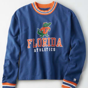 Tailgate Women's Florida Gators Tipped Fleece Sweatshirt Royal Blue M