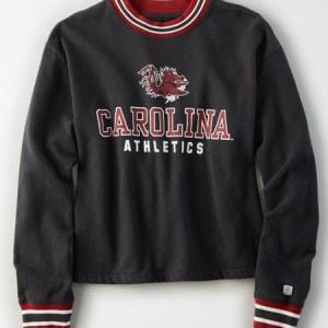 Tailgate Women's Carolina Gamecocks Tipped Fleece Sweatshirt Storm Dark XS