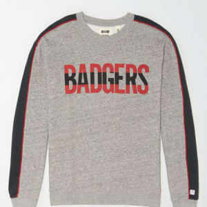 Tailgate Women's Wisconsin Badgers Sweatshirt Gray Heather S