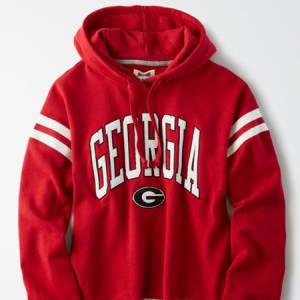 Tailgate Women's Georgia Bulldogs Cropped Fleece Hoodie Red M