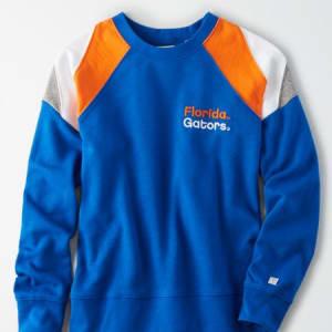 Tailgate Women's Florida Gators Colorblock Sweatshirt Classic Blue M