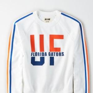 Tailgate Women's Florida Gators Raglan Sweatshirt White XS