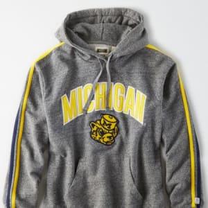 Tailgate Women's Michigan Wolverines Fleece Hoodie Salt And Pepper S