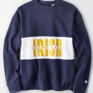 Tailgate Women's Notre Dame Colorblock Sweatshirt Blue M
