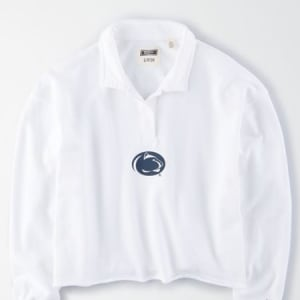 Tailgate Women's Penn State Cropped Rugby White S