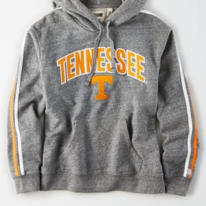 Tailgate Women's Tennessee Volunteers Fleece Hoodie Salt And Pepper XS