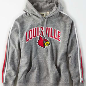 Tailgate Women's Louisville Cardinals Fleece Hoodie Salt And Pepper XL