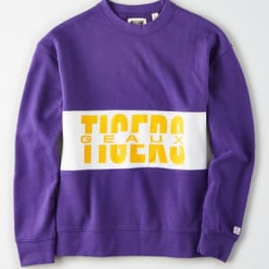 Tailgate Women's LSU Tigers Colorblock Sweatshirt Prep Purple S