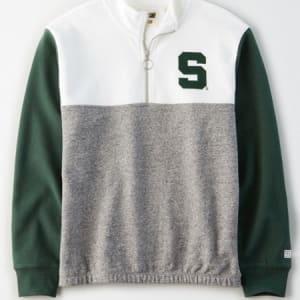 Tailgate Women's MSU Spartans Quarter-Zip Sweatshirt White XL