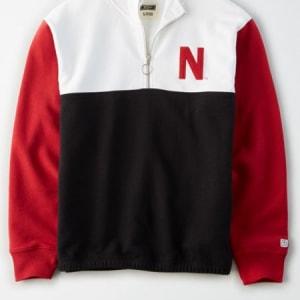 Tailgate Women's Nebraska Cornhuskers Quarter-Zip Sweatshirt White S