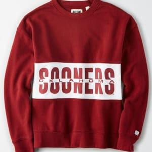 Tailgate Women's Oklahoma Sooners Colorblock Sweatshirt Campus Red XL