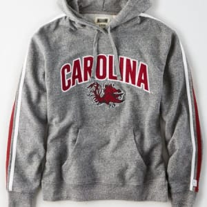Tailgate Women's South Carolina Gamecocks Fleece Hoodie Salt And Pepper XS