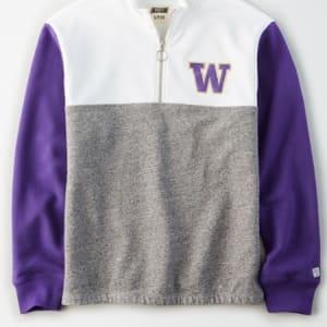Tailgate Women's Washington Huskies Quarter-Zip Sweatshirt White S