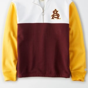Tailgate Women's ASU Sun Devils Quarter-Zip Sweatshirt White M