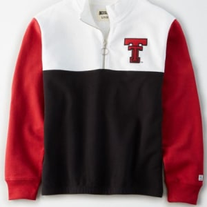 Tailgate Women's Texas Tech Red Raiders Quarter-Zip Sweatshirt White XL