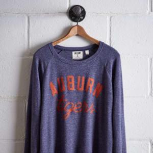 Tailgate Women's Auburn Plush Tee Blue XS
