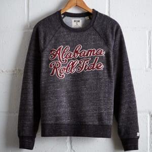 Tailgate Women's Alabama Crew Sweatshirt Charcoal XL