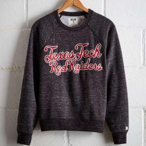 Tailgate Women's Texas Tech Crew Sweatshirt Charcoal M