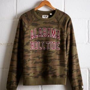 Tailgate Women's Alabama Camo Fleece Sweatshirt Camo Green S